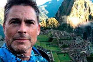 Estrella de Hollywood, Rob Lowe, visitó Machu Picchu