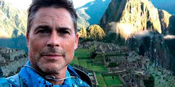 Estrella de Hollywood, Rob Lowe, visitó Machu Picchu