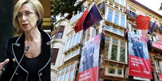 """Rosa Díez baja el pulgar a su expartido por la 'desaparición' de la bandera de España en su sede en Navarra: """"Tanta gente asesinada para esto..."""""""