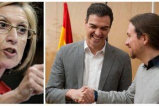 Rosa Díez está que explota ante el ultraje de Sánchez y sus posibles aliados a los españoles
