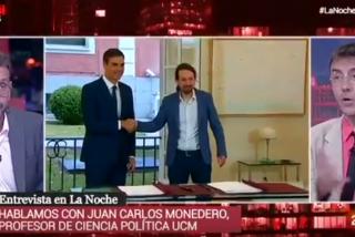 'Gloriosa' confesión de Monedero en 'La Noche en 24 Horas' sacando a la luz el chanchullo que tenían pergeñado PSOE y Podemos para mangonear en RTVE