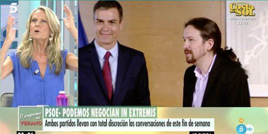Isabel San Sebastián avisa de lo 'chungo' de colar a Irene Montero en el Consejo de Ministros