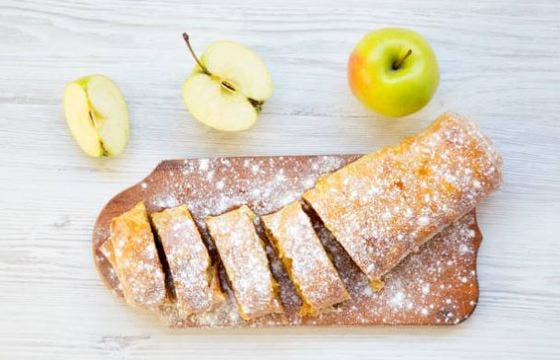 receta de strudel de manzana