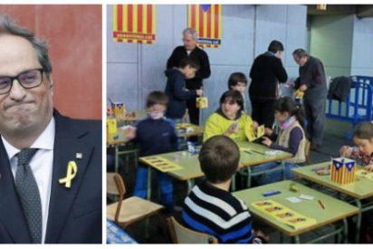 Sánchez, ¿con estos pretendes pactar para ser presidente? Quim Torra montó una 'Stasi' infantil en los patios de los colegios para espiar si se hablaba catalán
