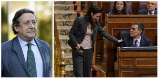 """Ussía sobre el odio entre Iglesias y Sánchez: """"Ha sido una farsa de pocilga y será vicepresidenta la que amenazó con guillotinar al Rey"""""""