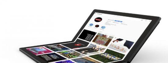 La empresa china Lenovo ofrece el primer vistazo a su laptop con pantalla flexible