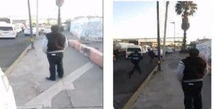 El hombre impasible que mira un tiroteo en Ciudad de México se vuelve viral en las redes
