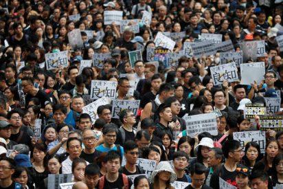 Otra intensa jornada de protestas anticomunista paraliza el área más poblada de Hong Kong