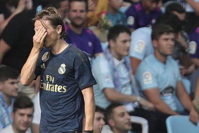 """El balón de oro Luka Modric """"pierde la virginidad"""" al recibir la primera tarjeta roja de su carrera"""