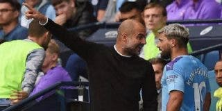 Tremenda agarrada entre el 'Kun' Agüero y Guardiola en pleno partido de la Premier League tras despreciar al delantero y sustituirlo inesperadamente