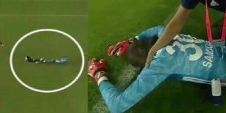 Guardameta se desmaya por partida doble tras un fuerte encontronazo con un rival en un partido de la Superliga turca