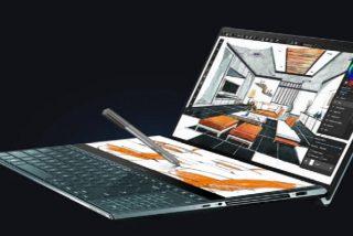 La empresa tecnológica ASUS presenta al público su revolucionario laptop con doble pantalla de alta resolución