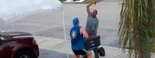 Violenta agresión con una espada de un recolector de basura a cuenta de una carretilla