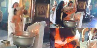 El pope ruso agita tan violentamente al bebé que lo deja malherido en la pila bautismal