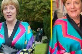 Angela Merkel se pasa al 'reciclaje textil' y reutiliza un quimono, 23 años después