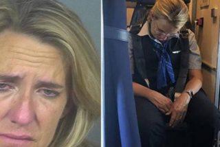 """Azafata con un """"par de copas de más"""" es arrestada en el momento de aterrizar su vuelo"""