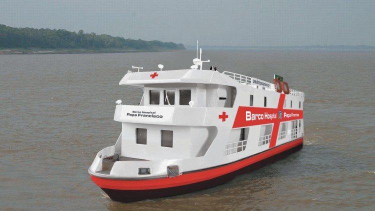 El barco-hospital Papa Francisco atenderá a más de 700 mil personas de la Amazonía