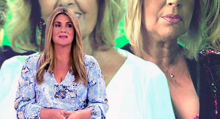 """Carlota Corredera, ofendida, responde a quienes dicen que los de 'Sálvame' son unos """"sinvergüenzas"""""""