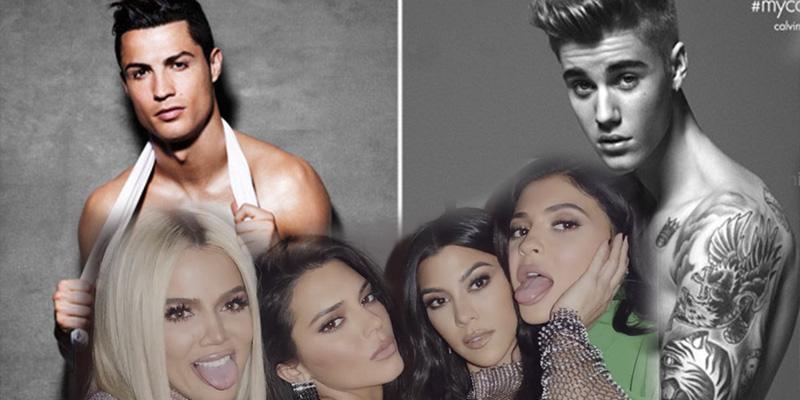 ¿Sabes qué tienen en común Cristiano Ronaldo, Las Kardashian y Justin Bieber?