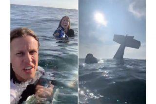 Se estrellan en pleno Océano con su avioneta y en lugar de nadar, se ponen a hacerse selfies y a grabarse en vídeo