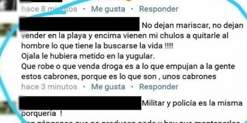 Detenido el usuario de Facebook acusado de un delito de odio por sus comentarios contra el policía apuñalado en Punta Umbría