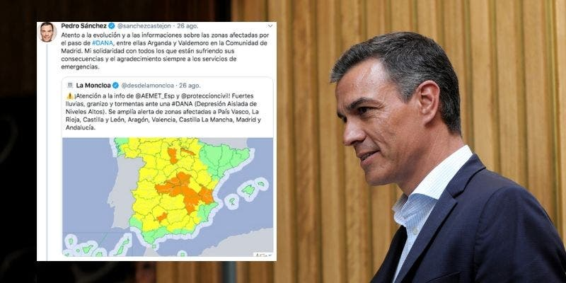 """Sánchez confunde la DANA con el nombre de un huracán y las redes le ponen a parir: """"¡Merluzo!"""""""