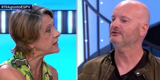 """El 'First Date' entre la franquista Pilar Gutiérrez y el grafitero de la tumba de Franco acaba fatal: """"¡A ti no te han represaliado en la vida!"""""""