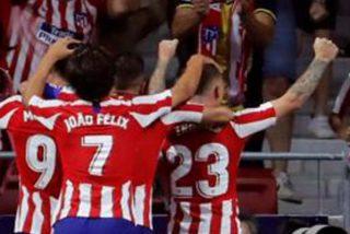 El Atlético de Madrid gana sufriendo el derbi contra el Getafe