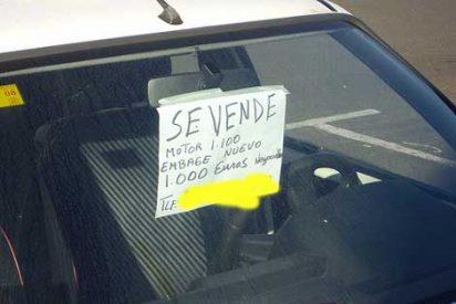 Si te quieres ahorrar una multa, no pongas el cartel de 'se vende' en el coche