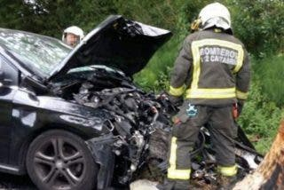El cobarde asesino de Cantabria no se suicidó: perdió el control del coche intentando escapar