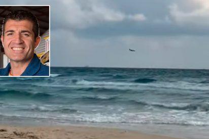 Muere el piloto del avión del Ejército al caer al mar Mediterráneo frente a la Manga