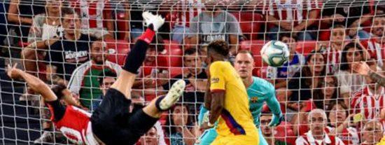 El golazo de Aduriz desluce el estreno del Barcelona en LaLiga