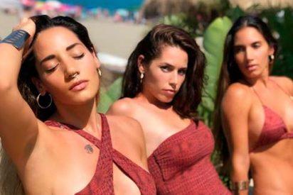 El espectacular posado de India Martínez con sus hermanas que deja 'atónitas' hasta a las Kardashian