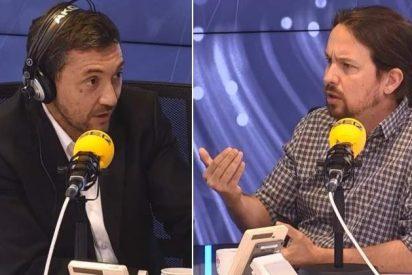 """Javier Ruiz responde así a los podemitas que le llaman """"hijo de puta"""" y """"gilipollas"""" en Twitter tras entrevistar a Pablo Iglesias"""