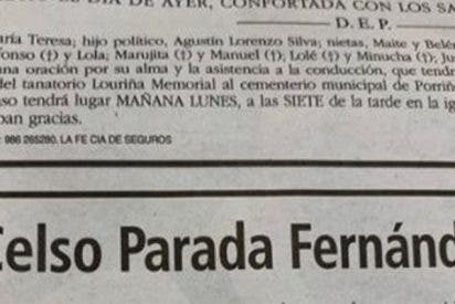 La esquela auto-escrita por un actor de 'Fariña' emociona a las redes