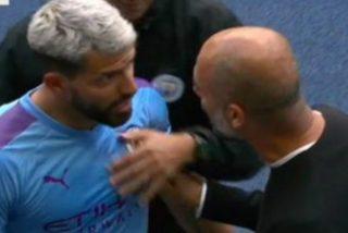 La fea bronca entre Guardiola y Agüero en pleno partido