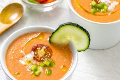La receta más típica del gazpacho andaluz