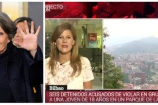El 'comando de la soviética TVE' no descansa: Vean como esta reportera oculta la nacionalidad de los 6 violadores de Bilbao