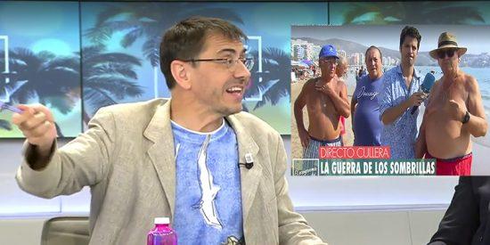 El podemita Monedero se relaja y el micro de Telecinco capta una vejación a los 'abuelos pensionistas'