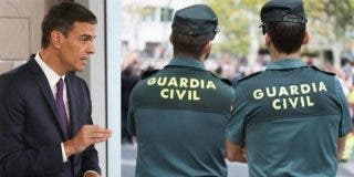 Las lujosas vacaciones de Sánchez obligan a los agentes de la Guardia Civil a hacer turnos de 12 horas