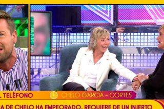 Rafa Mora amenaza a Chelo García Cortes con sacar a la luz una información sobre ella y el director de 'Sálvame' se lo prohíbe