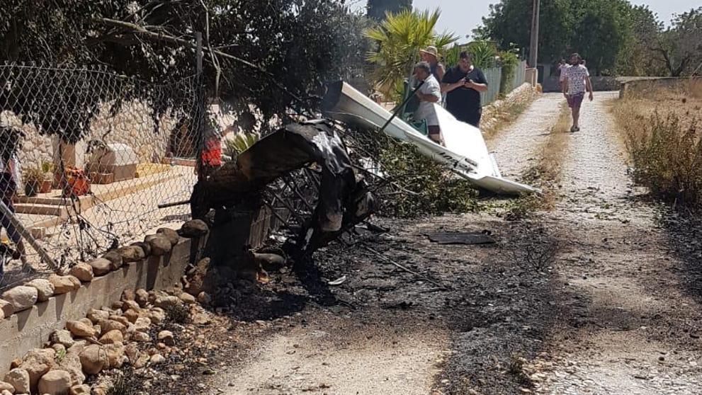 Siete muertos al chocar en el aire un helicóptero y un ultraligero en Mallorca