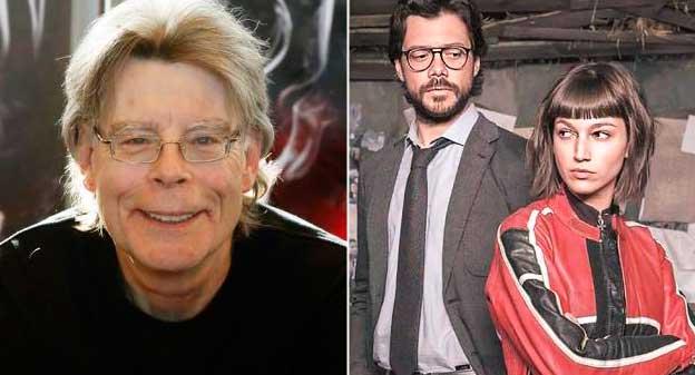 Stephen King se postula para ser un 'atracador' de 'La casa de papel' utilizando el nombre de una ciudad de EEUU