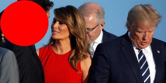¡Aquí hay tomate!... y está en el círculo rojo pegado a la explosiva Melania Trump