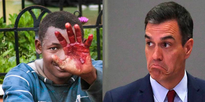Pedro Sánchez, el que recibió con cámaras de TVE al 'Aquarius', no retira las concertinas y entrega a Marruecos las llaves de la inmigración