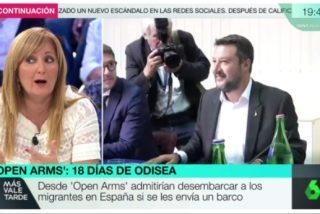 "Una tertuliana del 'ABC' se traga el discurso trampa del 'Open Arms' para atacar a Salvini: ""Es un racista y manipulador"""