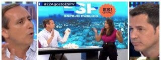 """Cuesta vapulea a Juan Segovia y la presentadora acude al rescate del socialista: """"Carlos, hasta aquí"""""""