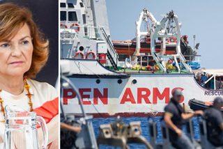 Se abre el telón: aparece Carmen Calvo retorciendo el conflicto del Open Arms y disparando a todos lados sin sentido
