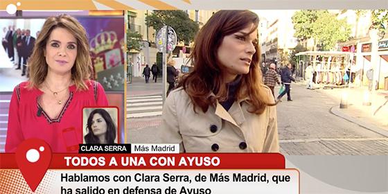 La nueva metedura de pata de Carme Chaparro con la que la podemita Clara Serra le sale a degüello en directo