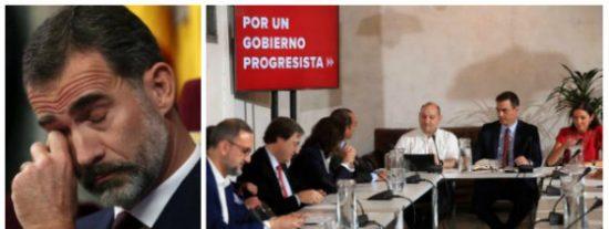 Pedro Sánchez es un hombre de poco fiar hasta con el reloj y le hace todo un real desplante a Felipe VI